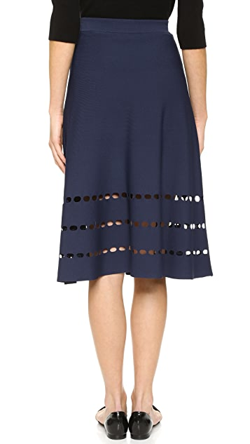 Ohne Titel Perforated Skirt