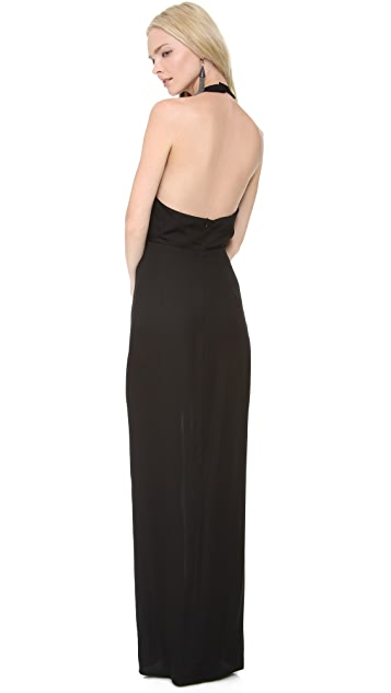 Olcay Gulsen Slit Front Gown