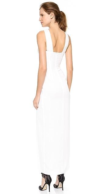 Olcay Gulsen Sleeveless Halter Gown