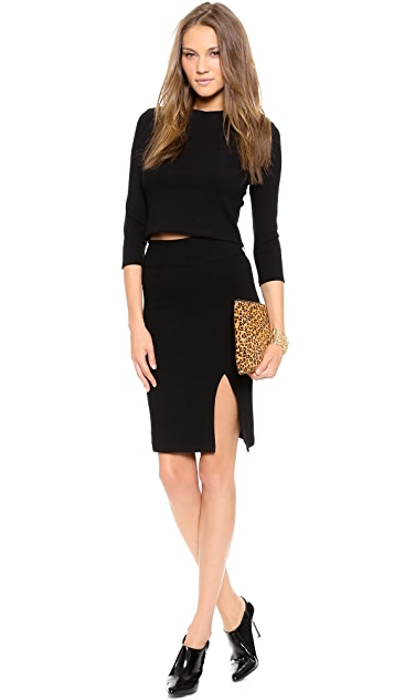 Oliveve Haircalf Queen Clutch