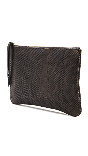 Oliveve Queenie Clutch with Cobra Embossing