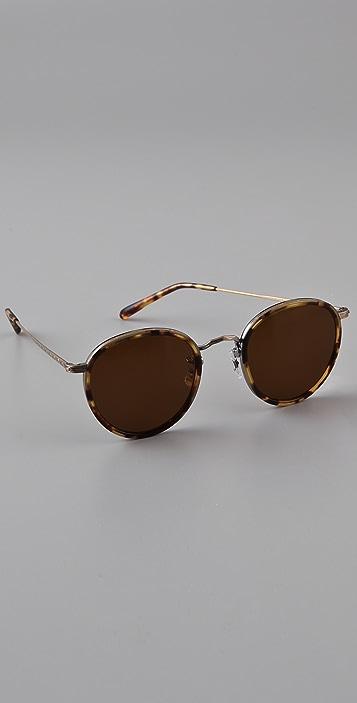 Oliver Peoples Eyewear Round Polarized Sunglasses