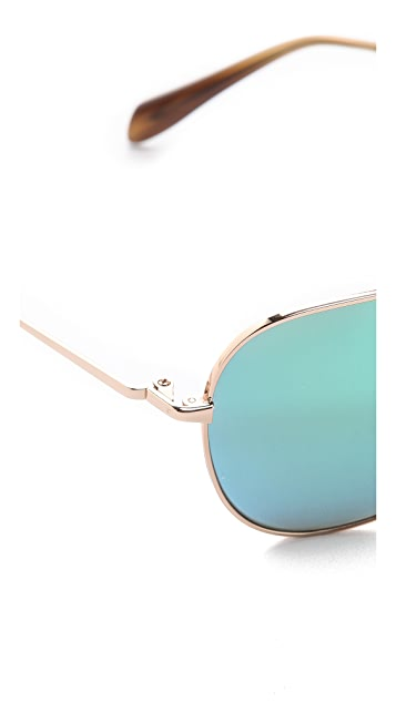 Oliver Peoples Eyewear Mirrored Pryce Sunglasses