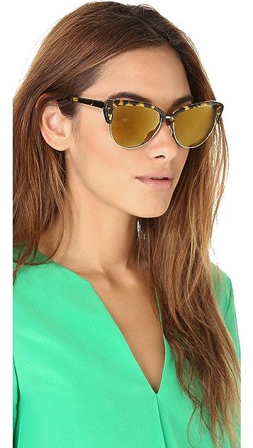 Oliver Peoples Eyewear Alisha Mirrored Polarized Sunglasses