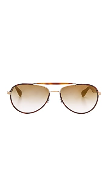 Oliver Peoples Eyewear Charted Flash Mirror Sunglasses