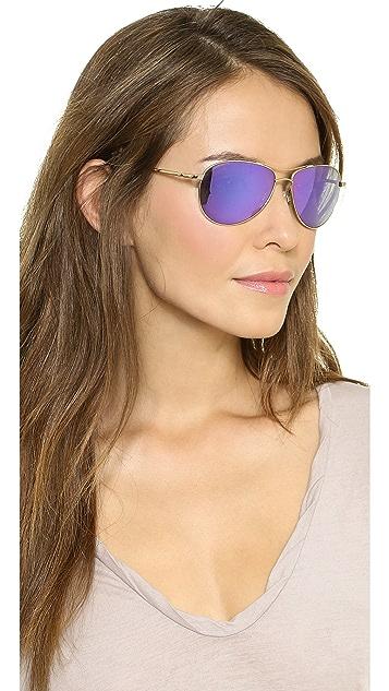 Oliver Peoples Eyewear Benedict Mirrored Sunglasses
