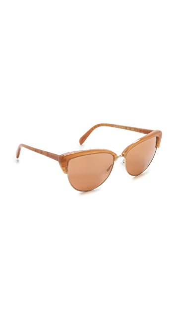 Oliver Peoples Eyewear Alisha Mirrored Sunglasses