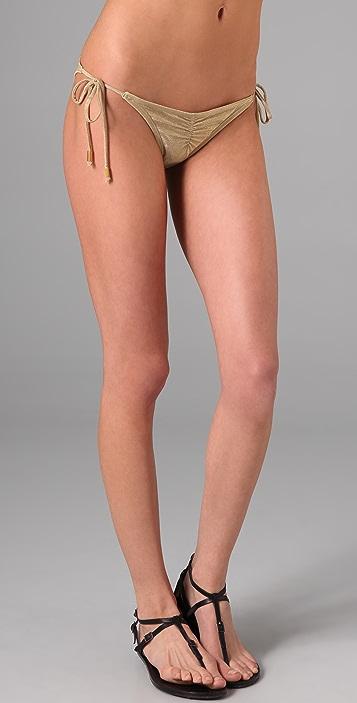 OndadeMar Solid String Bikini Bottoms