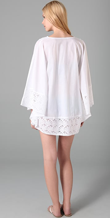 OndadeMar Eyelet Cover Up Poncho
