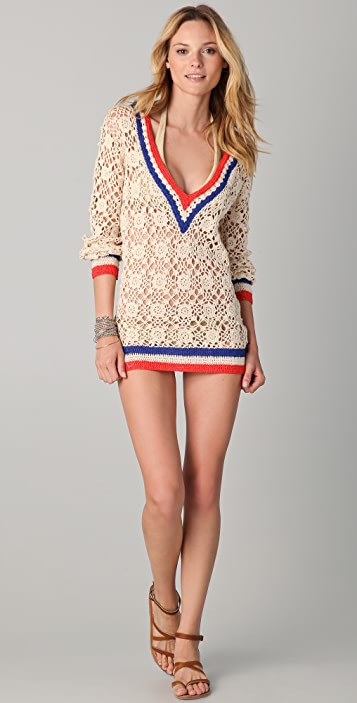 OndadeMar Riviera Sands Crochet Cover Up