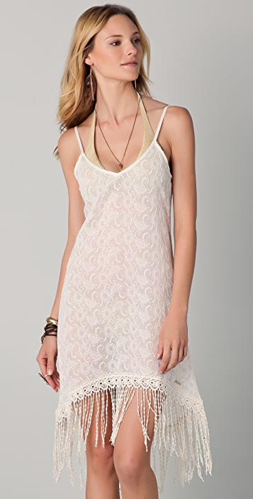 OndadeMar Riviera Sands Embroidered Cover Up Dress