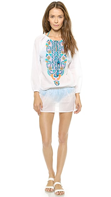 OndadeMar Bengal Embroidered Cover Up