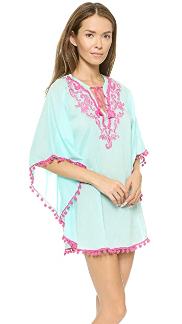 OndadeMar Bengal Embroidered Cover Up Tunic