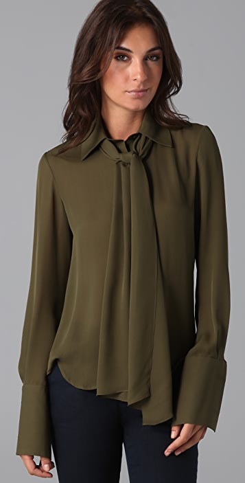 ONE by Alexander Berardi French Cuff Blouse