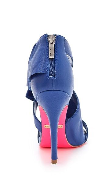 ONE by Suecomma Bonnie High Heel Ruffle Sandals