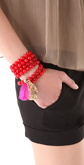 ONE by Lead Bead Tassel Bracelet / Necklace
