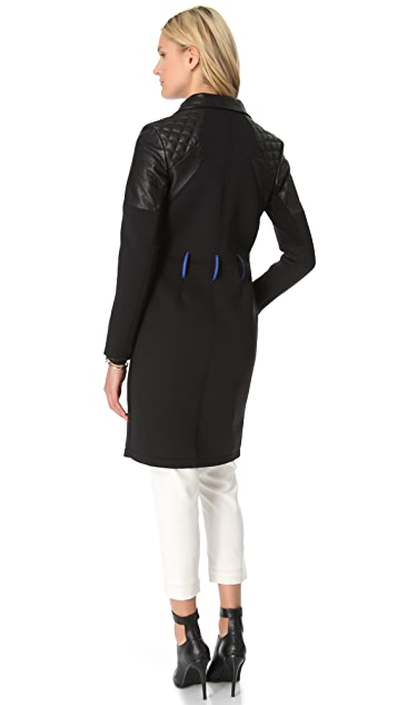 ONE by Francis Leon Manute Leather & Neoprene Jacket