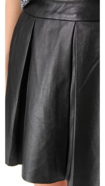 6280039747 ONE by Boundary Vegan Imitation Leather Skirt | SHOPBOP