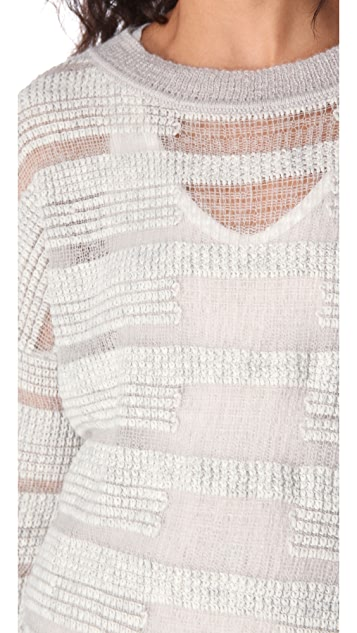 ONE by Duffy Sheer Stripe Sweater