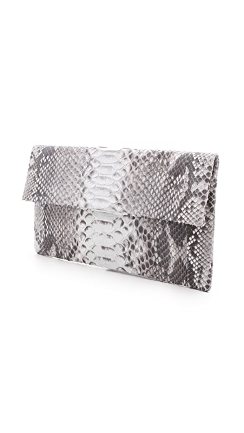 ONE by Primary Natural Python Clutch
