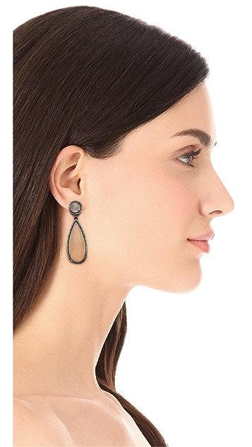 ONE by Susan Hanover Crown Double Drop Earrings