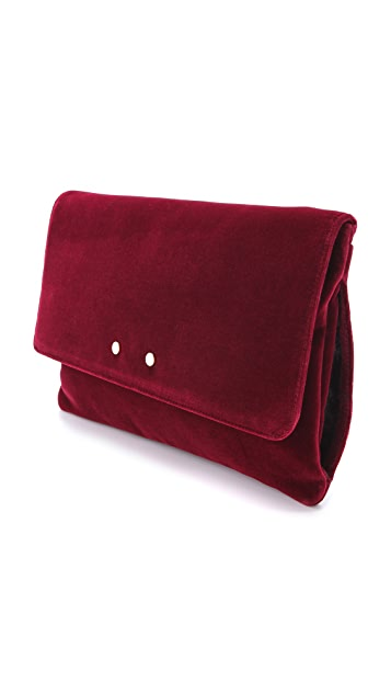 ONE by TL-180 Chauffmain Velvet Muff Clutch