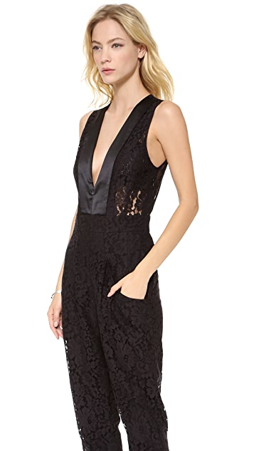ONE by Femme D'armes Lace Georges Jumpsuit