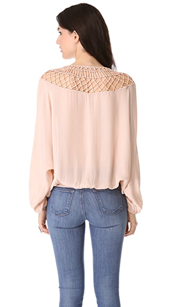 ONE by Chelsea Flower Macrame Blouse