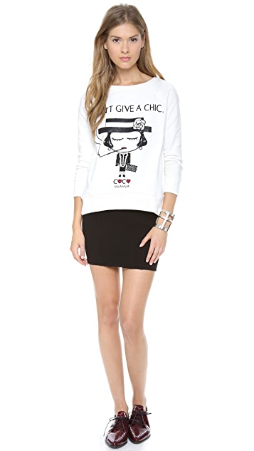 ONE by Mua Mua I Dont Give A Chic Raglan Sweatshirt