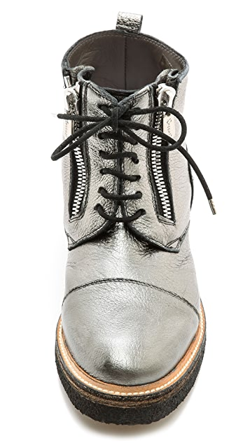 ONE by Rocco P Metallic Side Zip Booties