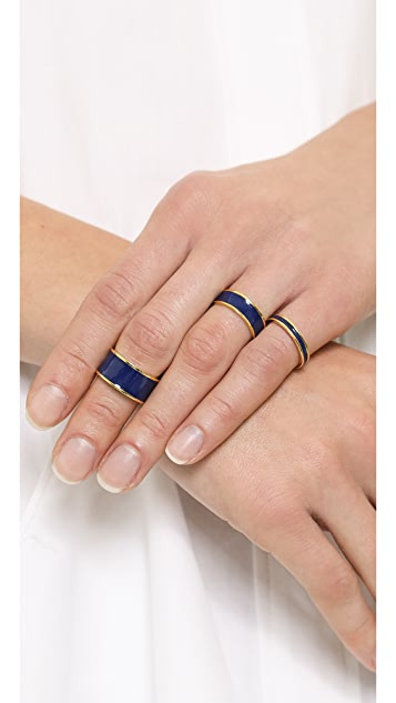 ONE by Tuleste Enamel Stacking Rings