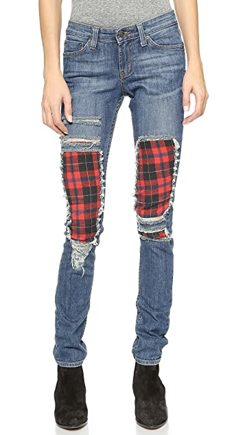 ONE by JET by John Eshaya Plaid Skinny Jeans