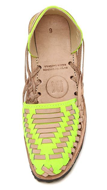 ONE by Ix Style Woven Leather Huarache Flats