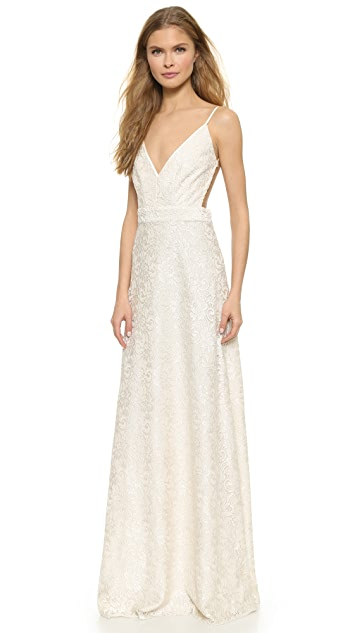 ONE by Contrarian Babs Bibb Lace Maxi Dress