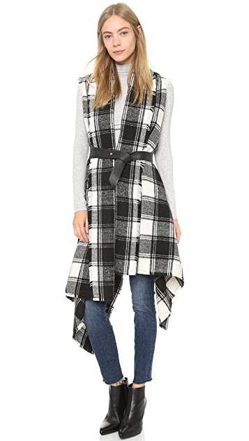 ONE by Sheri Bodell Plaid Blanket Vest