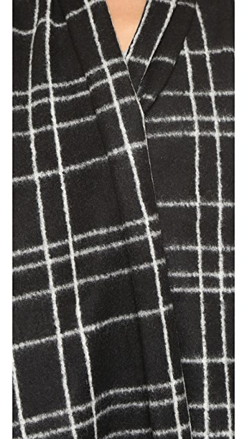 ONE by Sheri Bodell Window Pane Blanket Vest