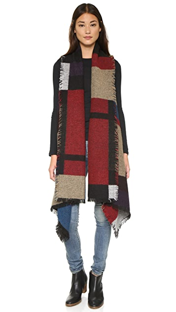 ONE by Sheri Bodell Blocked Pattern Blanket Vest