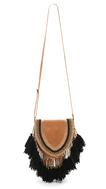 ONE by Type Alpha Embroidered Saddle Bag