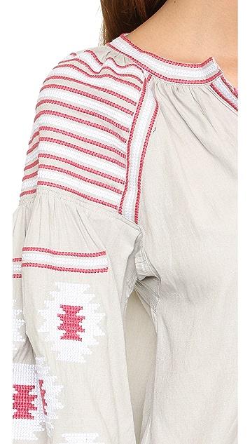 ONE by STYLEKEEPERS Топ с вышивкой в богемном стиле
