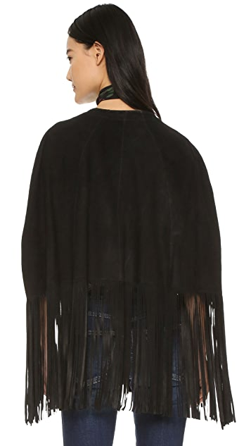 ONE by LAMARQUE Bailey Suede Poncho