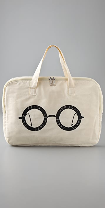 One Language City Tote with Laptop Sleeve