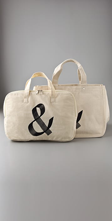 One Language Amper Tote with Laptop Sleeve