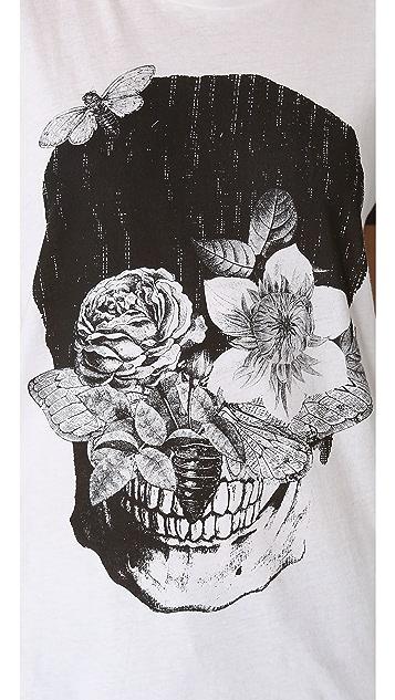 One Teaspoon Skull Flowers Gypsy Tee