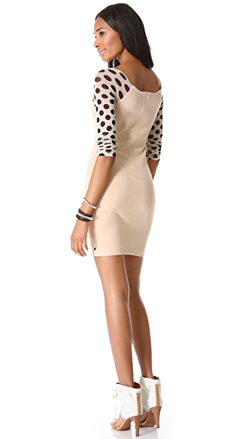 One Teaspoon Rose of Heart Polka Dress