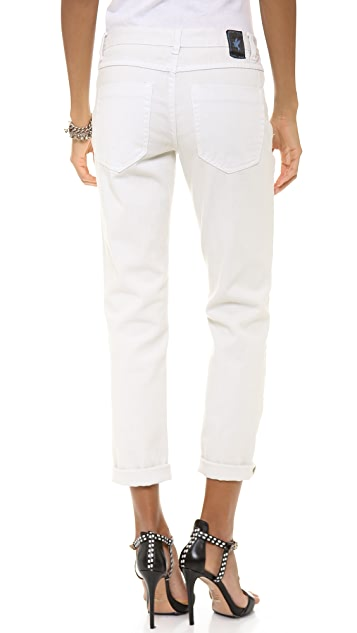 One Teaspoon Worn White Awesome Baggy Jeans