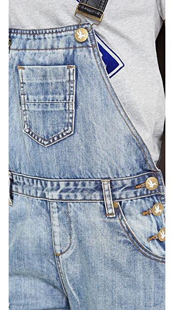 One Teaspoon Cobain Awesome Overalls