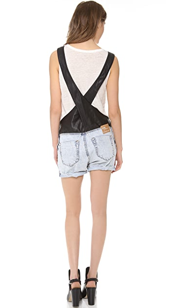 One Teaspoon Classic Superfreak Shortalls