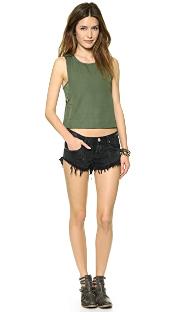 One Teaspoon Le Hawk Bonita Shorts
