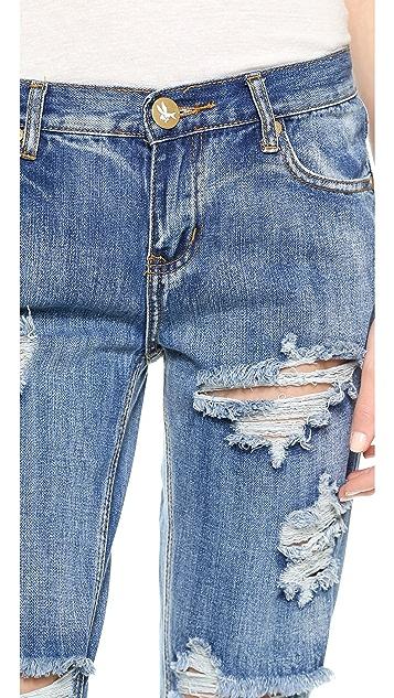 One Teaspoon Classic Awesome Boyfriend Jeans