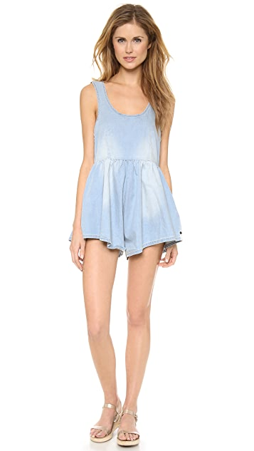 One Teaspoon Chambray Cali Romper